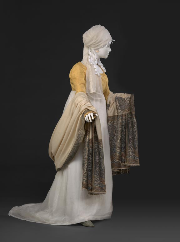 Muslin Dress and Yellow Spencer Jacket