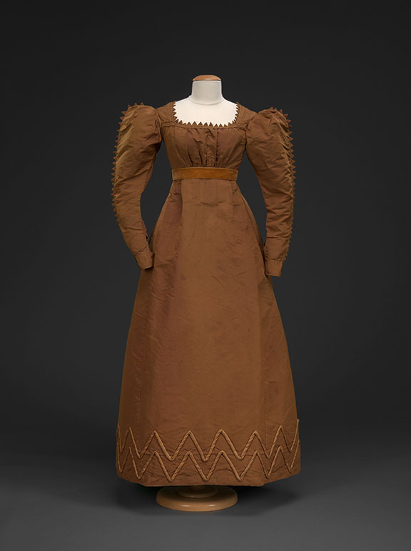 Taffeta Dress with Vandyke Trim